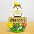 DECOLE(デコレ) concombre(コンコンブル) まったりガーデンシリーズ WELCOMEガーデン猫