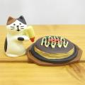 DECOLE(デコレ) concombre(コンコンブル) まったりマスコット 大阪(OSAKA)シリーズ お好み焼きと子猫