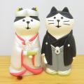 DECOLE(デコレ) concombre(コンコンブル) WEDDING ウェディングマスコット 和装猫