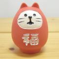 DECOLE(デコレ) fukumono(フクモノ) concombre 福ねこだるま(紅)