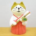 DECOLE(デコレ) concombre(コンコンブル) FUKU福MONO(フクモノ)シリーズ 巫女猫