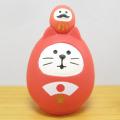 DECOLE(デコレ) concombre(コンコンブル) FUKU福MONO(フクモノ)シリーズ 開運カラー 福猫だるま・赤