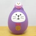 DECOLE(デコレ) concombre(コンコンブル) FUKU福MONO(フクモノ)シリーズ 開運カラー 福猫だるま・紫