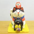 DECOLE(デコレ) concombre(コンコンブル) FUKU福MONO(フクモノ)シリーズ 福重ね招き猫