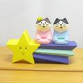 DECOLE(デコレ) concombre(コンコンブル) 宇宙の旅猫 七夕inSPACE 猫カップルと流星台座セット