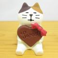 DECOLE(デコレ) concombre(コンコンブル) コンコン製菓 レトロチョコシリーズ ハートチョコ猫