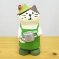 DECOLE(デコレ) concombre(コンコンブル) まったりマスコット イースターの庭シリーズ 庭師猫