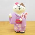 DECOLE(デコレ) concombre(コンコンブル) まったりマスコット 桜concombre 和服猫 桜