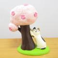 DECOLE(デコレ) concombre(コンコンブル) まったりマスコット 桜concombre 桜でつめとぎ猫