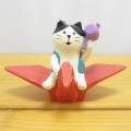 DECOLE(デコレ) concombre(コンコンブル) 2018戌年 お正月 GO GO 折り鶴 猫