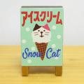 DECOLE(デコレ) concombre(コンコンブル) 雪猫アイス店シリーズ アイス屋看板(木製)