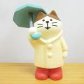 DECOLE(デコレ) concombre(コンコンブル) コンコンブルの梅雨飾り 雨宿り猫