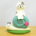 DECOLE(デコレ) concombre(コンコンブル) コンコンブルの梅雨飾り かたつむりとお散歩猫