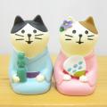 DECOLE(デコレ) concombre(コンコンブル) 七夕 まったり宵涼み 浴衣猫(ペア)