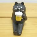 DECOLE(デコレ) concombre(コンコンブル) まったりマスコット ビーチキャンプ 麦酒黒猫