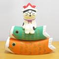DECOLE(デコレ) concombre(コンコンブル) 2021五月飾り つみつみ鯉乗り猫