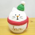 DECOLE(デコレ) concombre(コンコンブル) CHRISTMAS MARKET 雪猫だるま