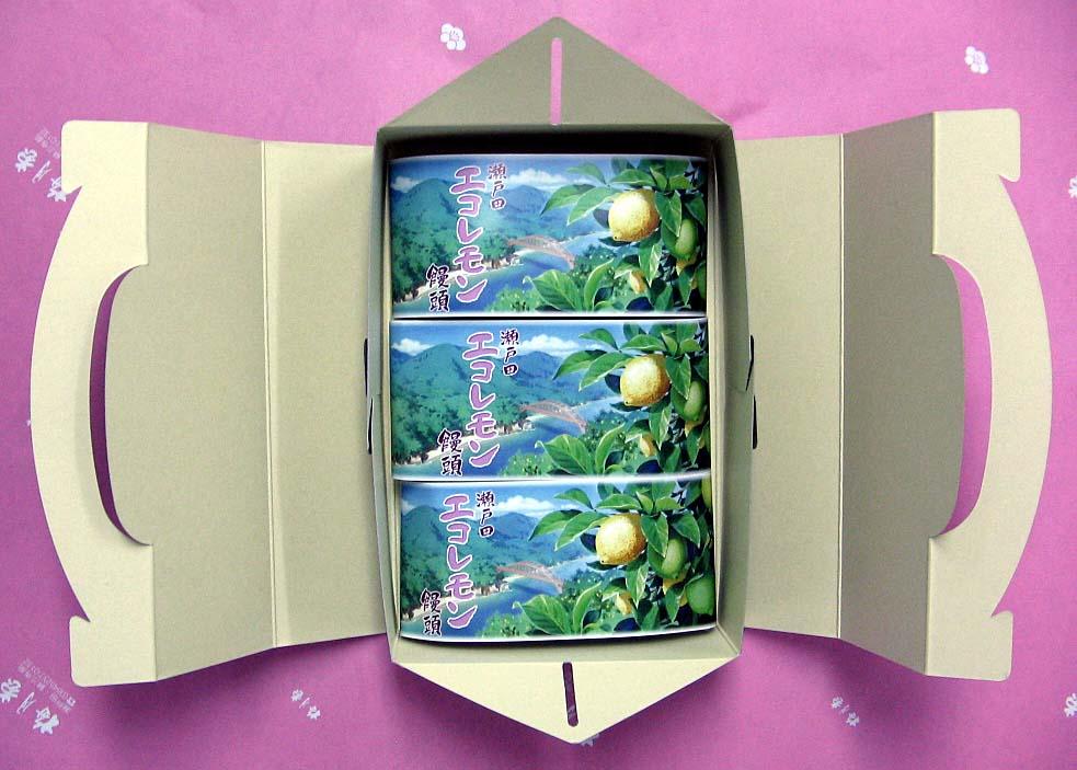 エコレモン饅頭3個箱入り