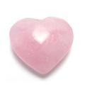 ピンク水晶ハート型