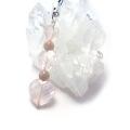 ハート型ピンク水晶+ピンクトルマリン