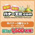 中バナー(501~700px内) 3個選び放題セット【最大1,500円お得!】