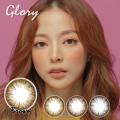 バービーアイ<度あり度なし>Glory(グローリー)ブラウン14.0mm 1年使用2枚