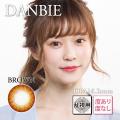 【乱視用】バービーアイDANBIEブラウン>1年1枚3980円DIA14.2mm