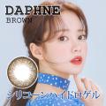 【シリコンハイドロゲル】ダフネ(DAPHNE)ブラウン@度あり度なし1年2枚入DIA14.5mm