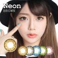 【度あり度なし】バービーアイ ネオン(Neon)ブラウン@1年・2枚入DIA:14.2mm激安カラコン