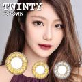 【度あり度なし】バービーアイ トウィンティー(Twinty)ブラウン1年・2枚入DIA:14.0mm激安カラコン