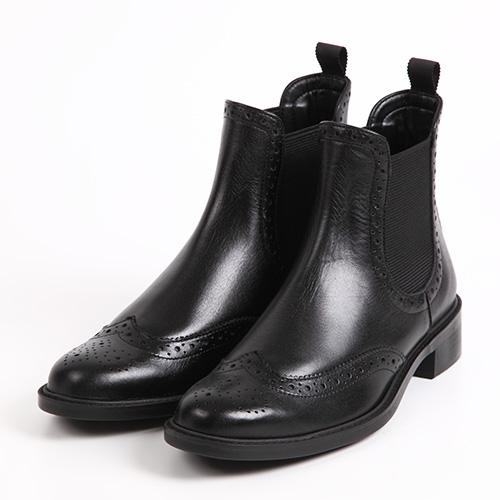 BARCLAYサイドゴアショートブーツ ブラック