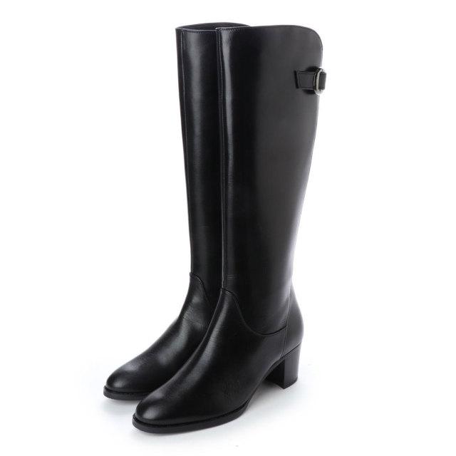 BARCLAY(バークレー)バックデザインロングブーツ ブラック