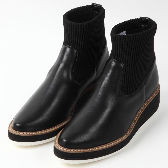 BARCLAY厚底ショートブーツ ブラック