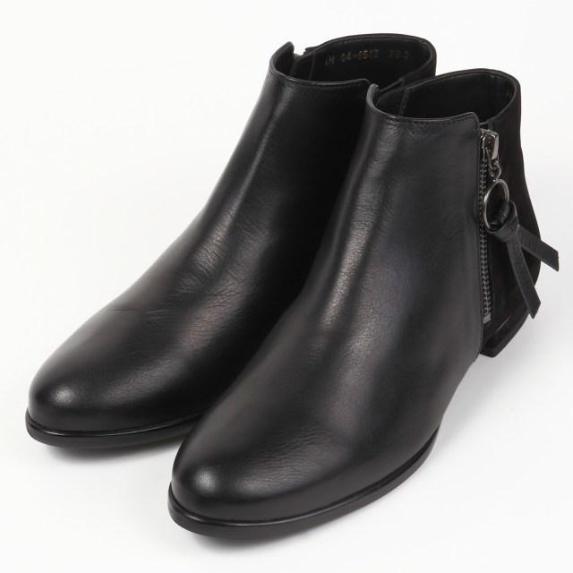 BARCLAY(バークレー) ジップアンクル丈ブーツ ブラック