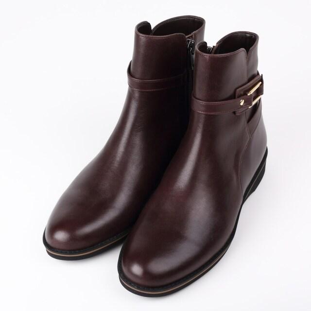 BARCLAY(バークレー)デザインショートブーツ チョコ【予約販売】