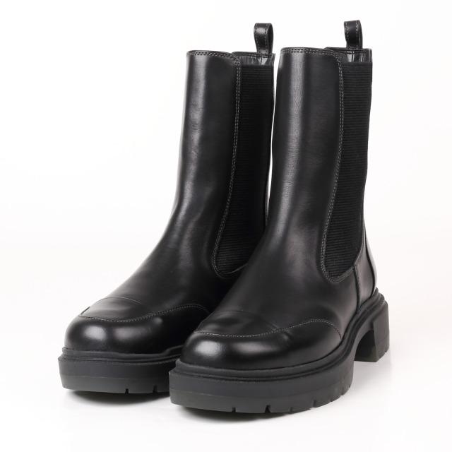 BARCLAY(バークレー) 厚底モールドソールブーツ ブラック