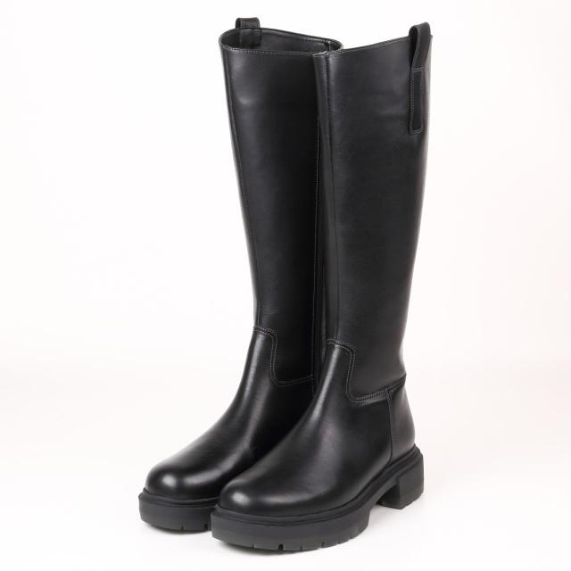 BARCLAY(バークレー) 厚底モールドソールロングブーツ ブラック