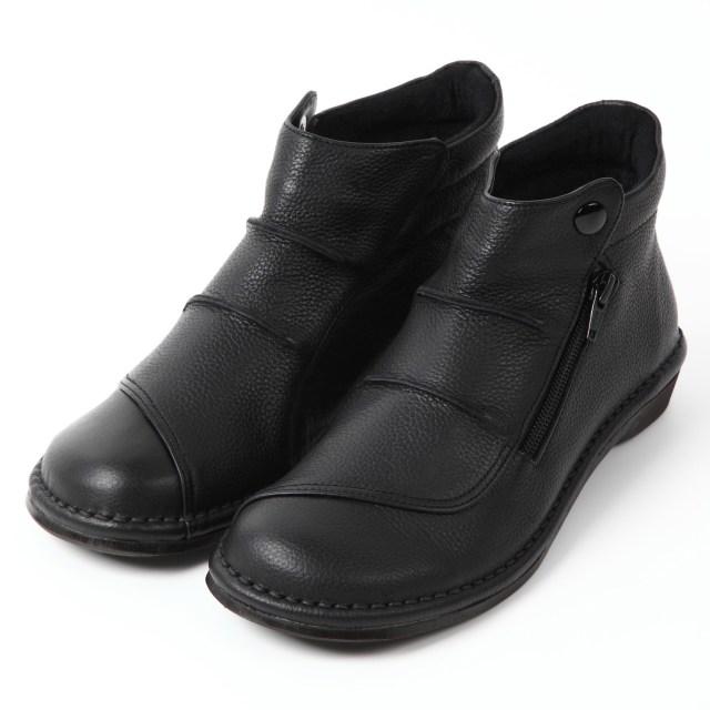 VITA NOVAソフトレザーショートブーツ ブラック2