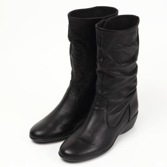 VITA NOVA定番ミドル丈ブーツ ブラック