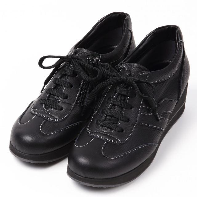 【予約販売】VITA NOVAロングランスニーカー4E ブラック