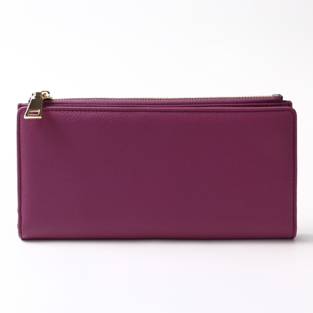 BARCLAY CLUB(バークレークラブ)上質なエンボスレザーを使用した長財布。 パープル