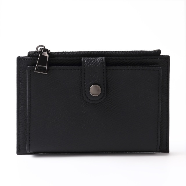 BARCLAY CLUB(バークレークラブ)上質なエンボスレザーを使用したミニ財布。 ブラック