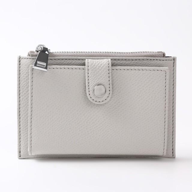 BARCLAY CLUB(バークレークラブ)上質なエンボスレザーを使用したミニ財布。 ライトグレー