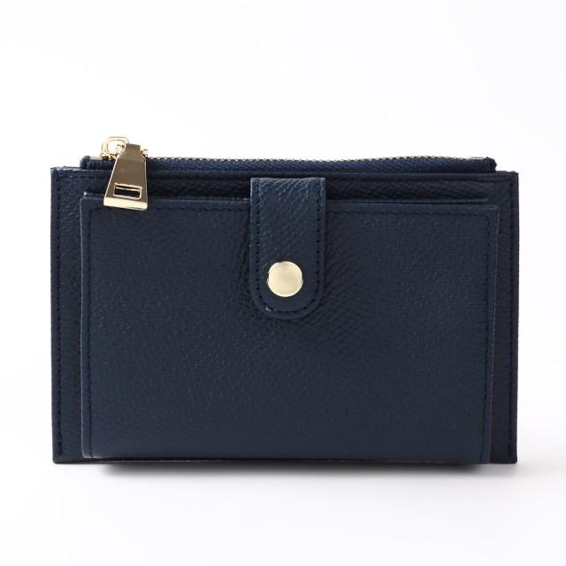 BARCLAY CLUB(バークレークラブ)上質なエンボスレザーを使用したミニ財布。 ネイビー