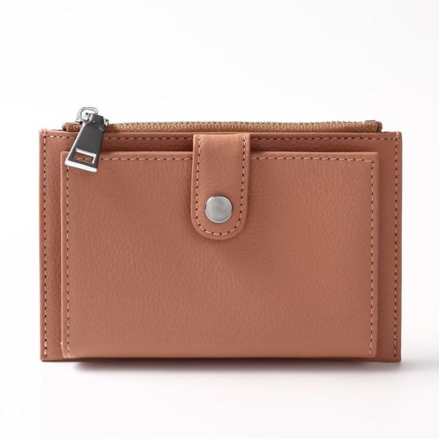 BARCLAY CLUB(バークレークラブ)上質なエンボスレザーを使用したミニ財布。 ピーチ