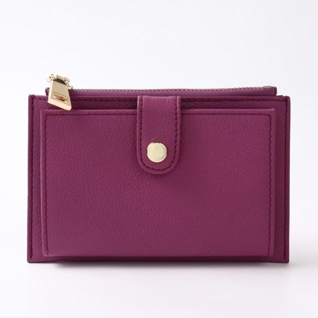 BARCLAY CLUB(バークレークラブ)上質なエンボスレザーを使用したミニ財布。 パープル