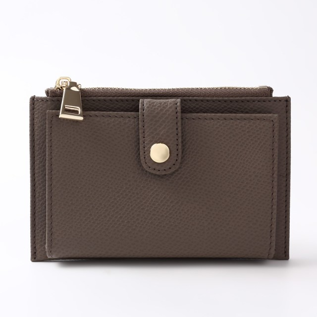 BARCLAY CLUB(バークレークラブ)上質なエンボスレザーを使用したミニ財布。 トープ