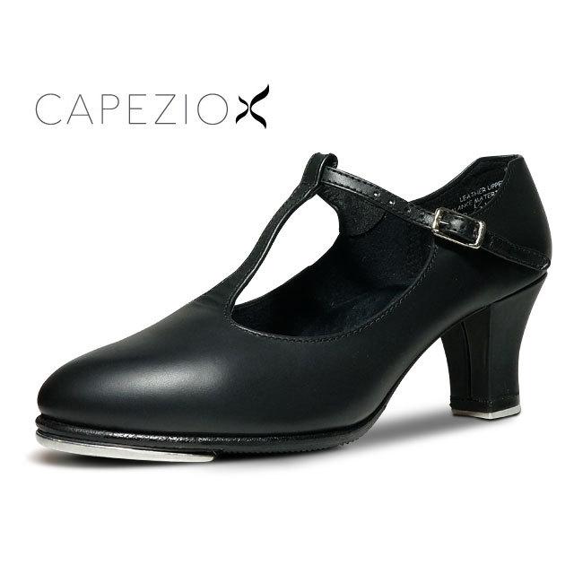 CAPEZIO(カペジオ)タップシューズTストラップ(黒)