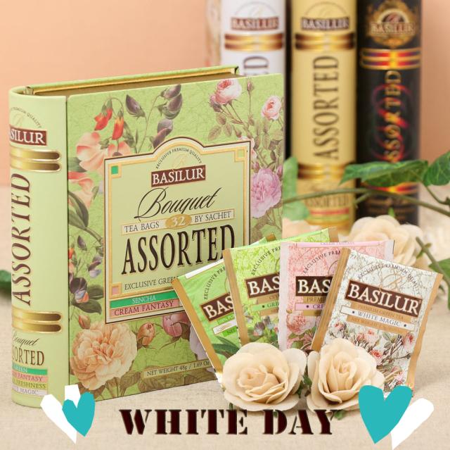 【ホワイトデー特典】TEA BOOK Bouquet Assorted T-bag 32袋入り