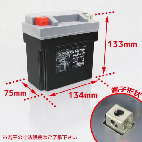 リチウムイオンバッテリーサイズ